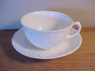 Vintage English Wedgwood Countryware - White Cabbage Pattern - Cup And Saucer Set