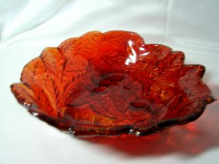 Vintage Indiana Glass Loganberry Raised Red Flash Raspberry Bowl Serving Dish