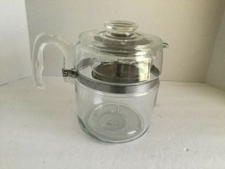 Vintage Pyrex 9 Cup Stove Top Coffee Pot Percolator 7759 Complete Guc