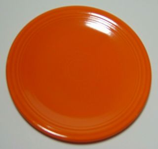 Old Vtg 1936 Red Orange Radioactive Fiesta Bread Plate Geiger Counter Reading T