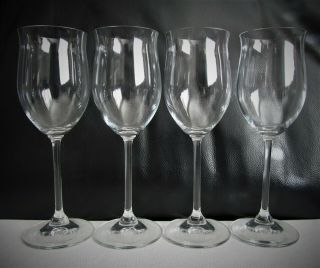 """Marquis By Waterford Set Of 4 Vintage White Wine Glasses 8.  5 """" Tulip Shape"""
