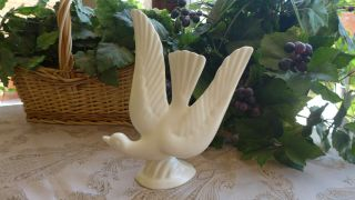 Vtg Pottery Ceramic Dove Figurine Mccoy Or California Art 50s Wedding In Flight
