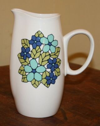 """Vintage Franciscan Mid - Century Cantata 8 """" Tall 32 Oz Pitcher"""