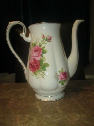 Vintage American Beauty Royal Albert Coffee Pot No Lid Made In England
