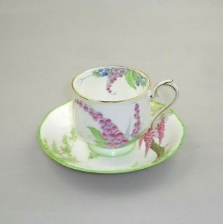 Vintage Royal Albert Crown China Cup And Saucer Foxglove No 2185