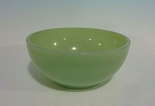 Vintage Fire King Oven Ware Jadeite Green Glass Cereal Chili Bowl