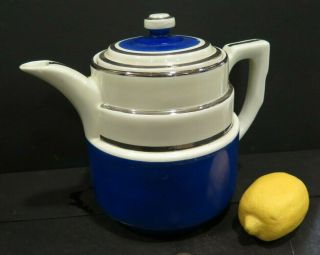 Large 2 Qt 8 Cup Vintage Hall Superior Quality Kitchenware Usa Coffee Teapot Tea