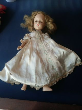 "Vtg.  Mme Alexander 14 "" Doll With Open & Close Eyes.  Good"