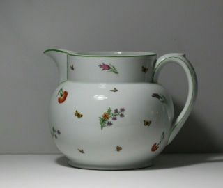 Vintage Tiffany & Co Gda Limoges France Hand Painted Porcelain Water Pitcher Jug