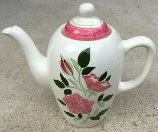Vintage Stangl Pottery Wild Rose Tall Coffee Chocolate Or Teapot