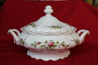 Vegetable Dish Vintage Johann Haviland Bavaria Germany Moss Rose