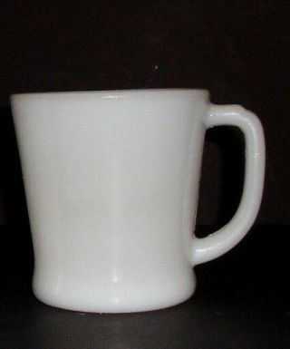 Vintage Fire King White Coffee Mug Cup D Handle Oven Ware 19 Milk Glass Retro