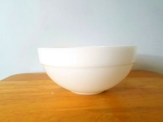 """Vintage Fire King White Glass Mixing Bowl 7 3/8 """" Colonial Band Usa"""