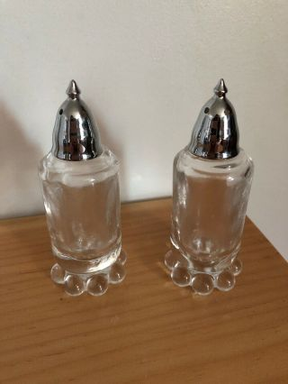 Vintage Imperial Glass Candlewick Salt & Pepper Shakers Set