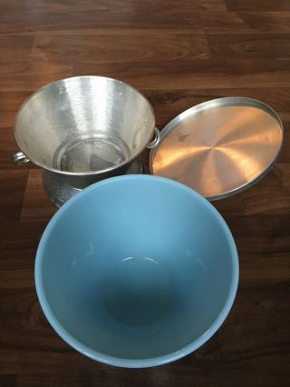 Vintage Fire King Blue Ice (blue Delphite) Serving Bowl Oven Ware U.  S.  A.