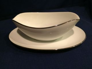 Vintage Noritake Colony Gravy Boat With Attached Underplate 5932