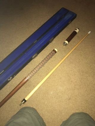Vintage 3 Piece Pool Stick With Case