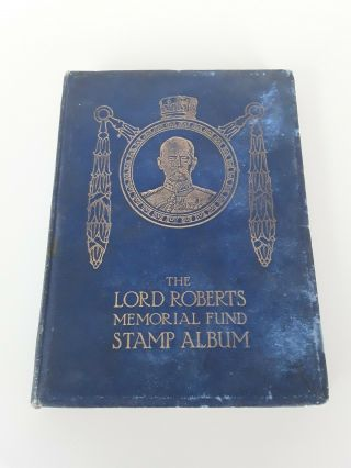 Vintage Lord Roberts Memorial Fund Stamp Album,  Full Of Stamps And Complete.