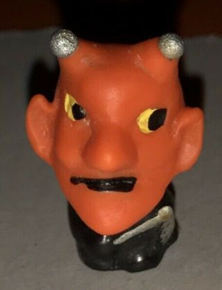 Rare Vintage 1960's Japan Devil Pencil Topper Creepy Satan Monster Horror