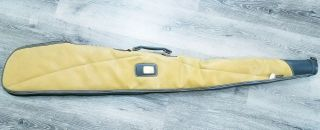 """Vintage Kolpin 49"""" Soft Padded Leather And Canvas Gun,  Rifle Case"""