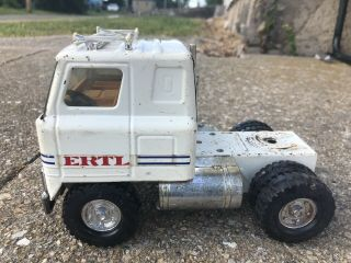 Vintage Ertl Ih International Harvester Tractor Cab Semi Trailer White