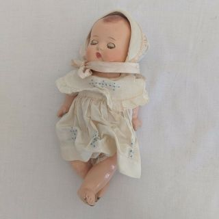 "Effanbee Babyette 9 "" Tall Doll With Opening Eyes"