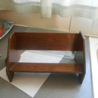 """Vintage 40/50s Book Rack,  12 """" Long,  6 1/2 """" Tall"""