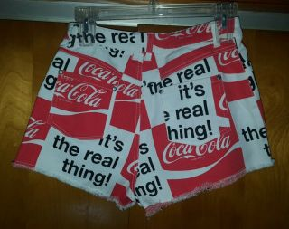 Rare Vintage 1970s Coca Cola COKE Shorts It ' s the Real Thing Women ' s Size S 3