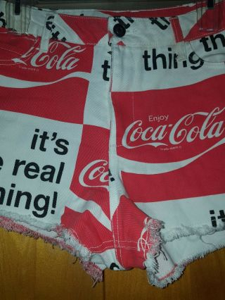Rare Vintage 1970s Coca Cola COKE Shorts It ' s the Real Thing Women ' s Size S 5