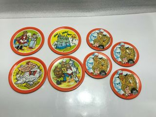 Vintage Ohio Art Childs Metal Play Dishes Plates,  The Wizard Of Oz