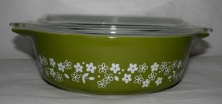 Vintage Pyrex Spring Blossom Covered Casserole Dish 471 - B 1 Pint