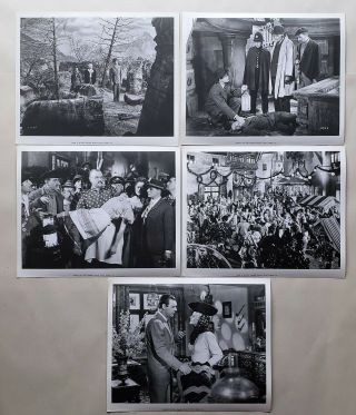 Vintage Photo 1943 Frankenstein Meets The Wolfman Lon Chaney 5 Pics Dwight Frye
