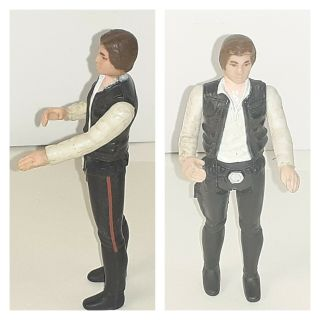 Vintage Star Wars 1977 Han Solo Small Head Kenner Action Figure