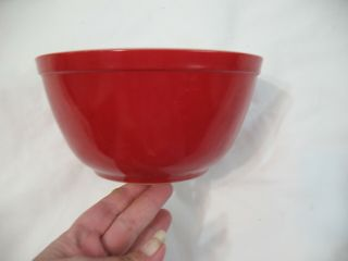 Vintage Early Pyrex Red Mixing Bowl 402 1½ Qt.  Primary Colors Nesting Bowl