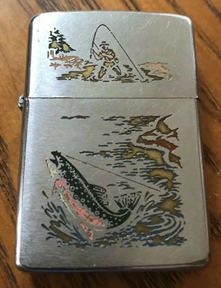 Vintage Zippo Town And Country Fisherman Lighter (1966)