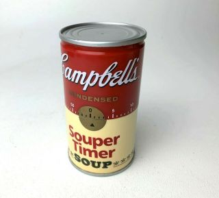 Vintage Campbell's Soup Can - Timer Kitchen Timer - One Hour Timer,