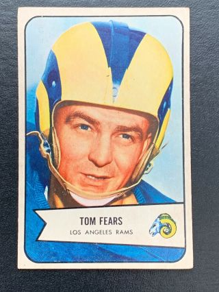 1954 Bowman Football Card 20 Tom Fears Los Angeles Rams Ex,  Vintage