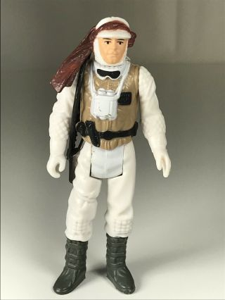 Star Wars Vintage Figure Luke Skywalker Hoth Complete W/rifle 1980 Lfl Hk Ex