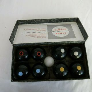 B & A Bowls The Indoor Carpet Game Made In England Vintage
