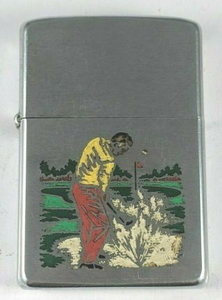 Vintage 1971 6 - Color Zippo Golfer Lighter In