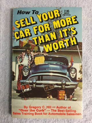 Vintage How To Sell Your Car For More Than It's Worth Paperback 1977 Vg