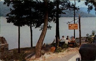 Deep Creek Lake Picnic Area Garrett County Maryland 1956 Vintage Postcard
