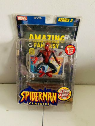 Marvel Legends Spider - Man Classics Series 2 Figure W/ Fantasy 15 Comic