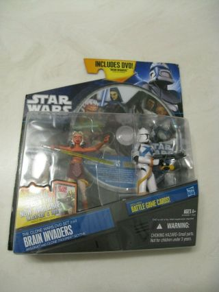 Star Wars The Clone Wars Brain Invaders With Ahsoka & Clone Trooper Scythe