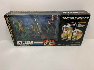 "Hasbro G.  I.  Joe Dvd Battles The Revenge Of Cobra 3.  75 "" Action Figure Set"