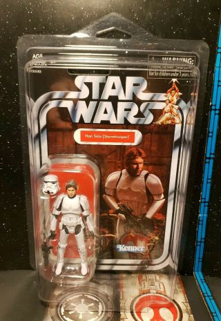 Star Wars Vintage Han Solo (stormtrooper) Vc143 Collector With Star Case
