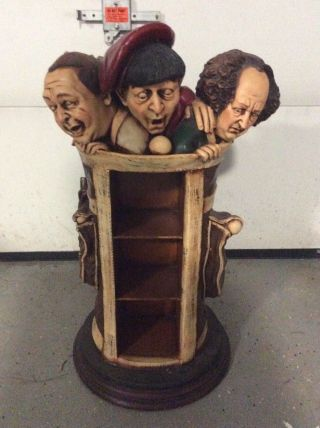 1999 Three 3 Stooges Resin Dvd And Cd Holder By Comedy 3 Entertainment