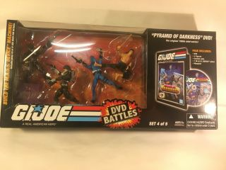 "2008 Hasbro Gi Joe Dvd Battles Set 4 Of 5 3.  75 "" Action Figure Opened Pyramid"