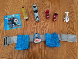Thomas The Train Set Of 5 Trains,  Tool Belt And Dvd