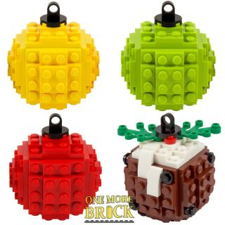 Baubles Made From Lego - Build Your Own Lego Christmas Bauble - Choose Colour